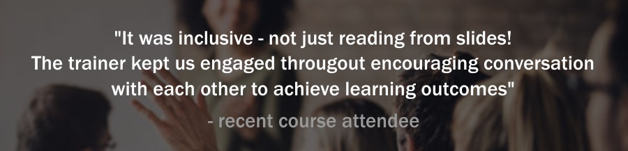 our course attendees commment on the course